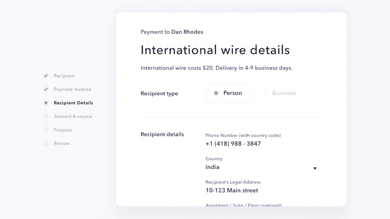 company-news Announcing faster, better international wires