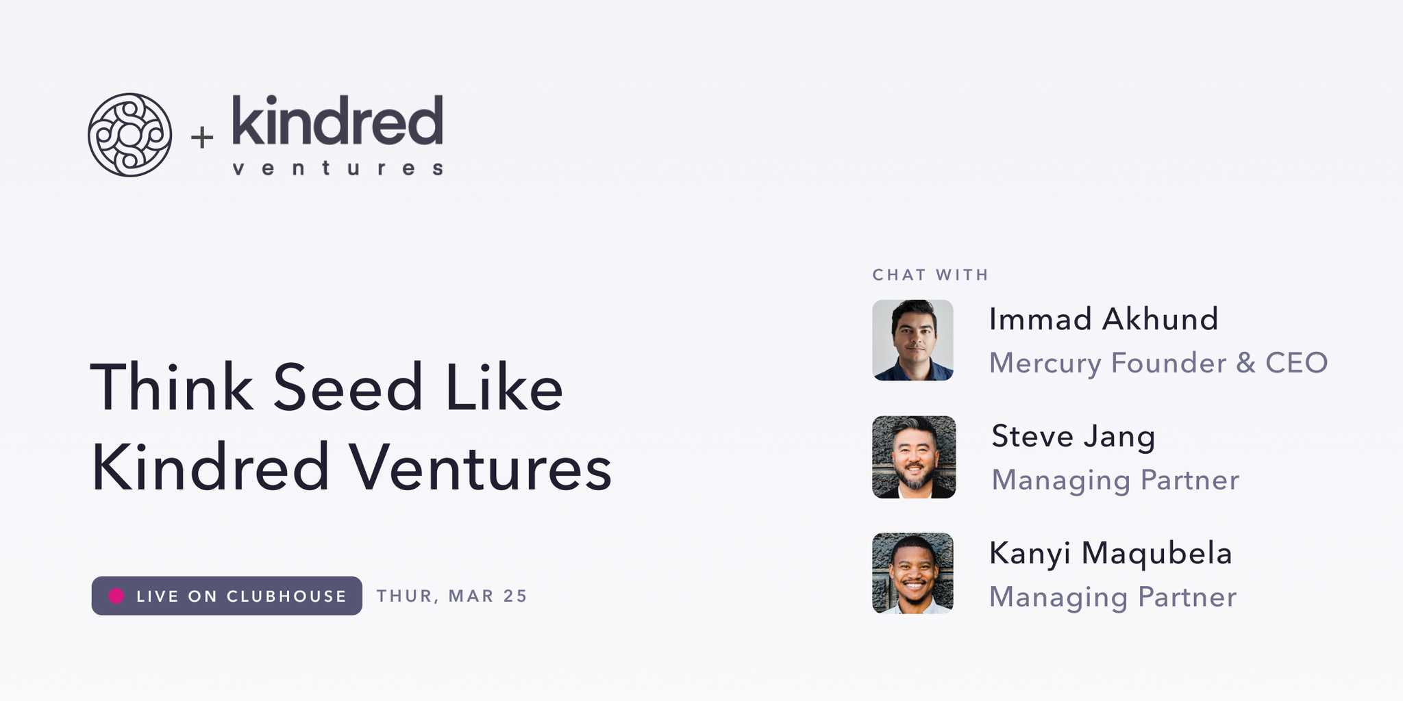 think seed like kindred ventures